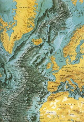 アイスランド周辺の地質